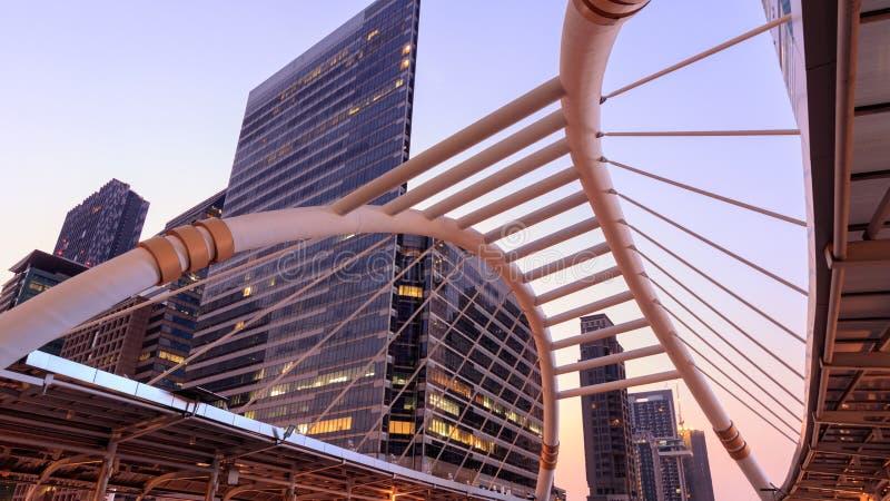 Skyscraper in Midtown Bangkok Thailand stock image