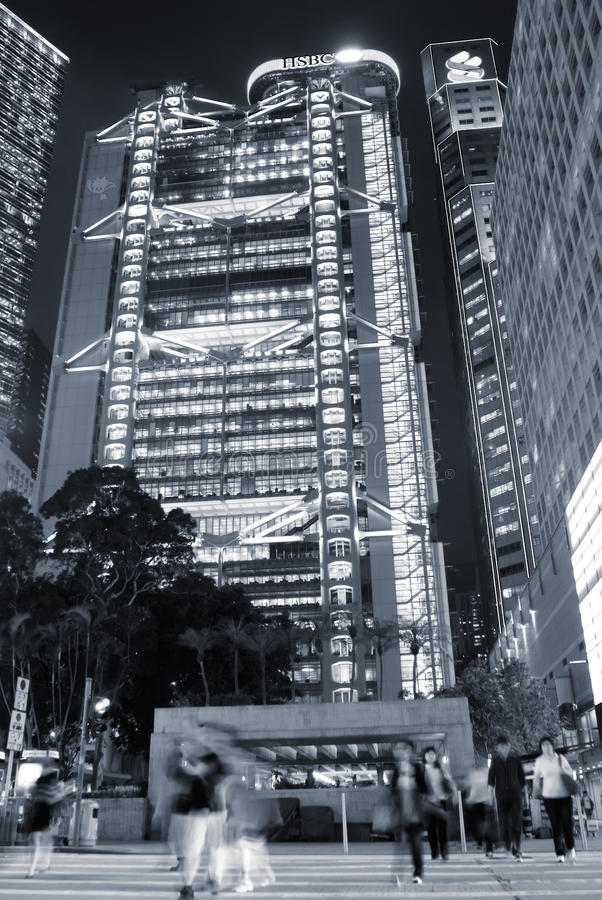 Skyscraper and MTR in Hong Kong royalty free stock images