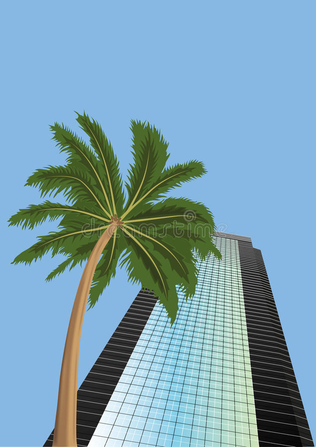 Download Skyscraper  And  Palm  Tree Stock Vector - Image: 25262212