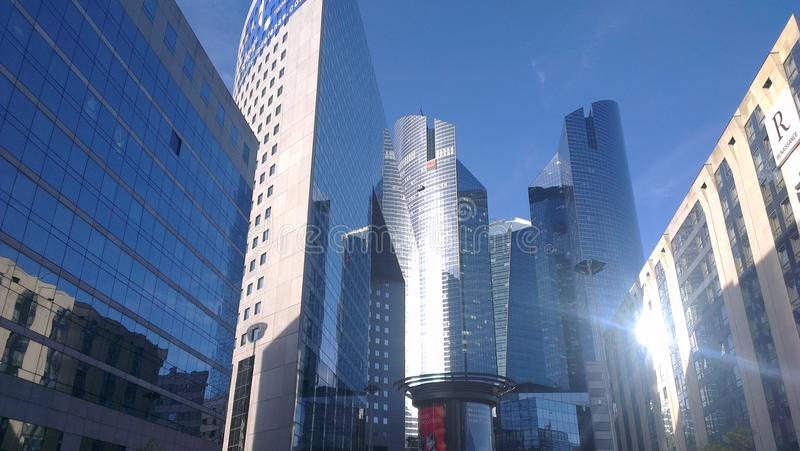 Skyscraper paris nanterre royalty free stock photo