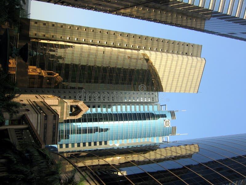 Skyscraper reflections stock photo