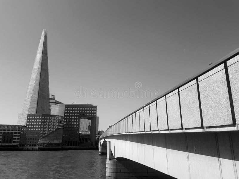 Skyscraper seen from bridge royalty free stock images