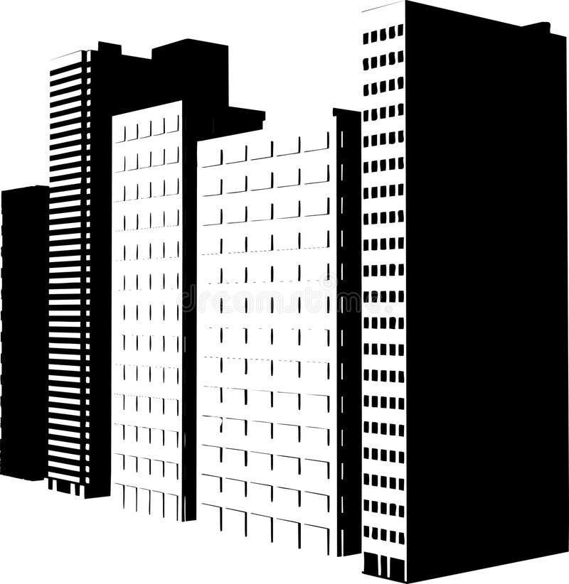 Skyscraper silhouettes stock illustration
