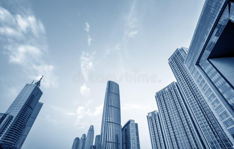 Skyscraper in Tianjin, China. Modern skyscrapers of the metropolis, Tianjin, China royalty free stock photos