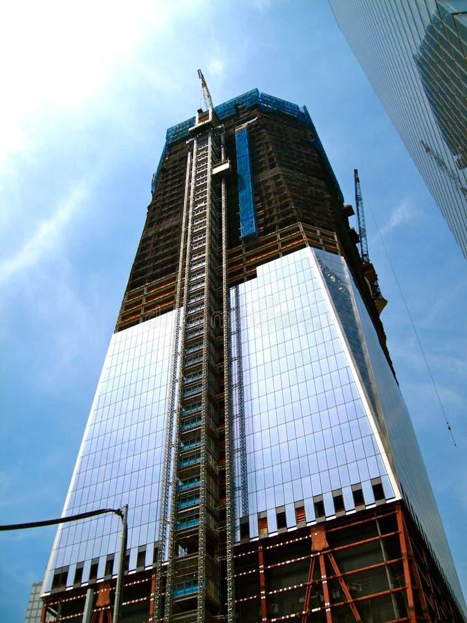 Skyscraper under construction stock photo
