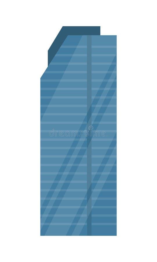 skyscraper vector illustration in flat design stock vector rh dreamstime com skyscraper silhouette vector free singapore skyscraper vector