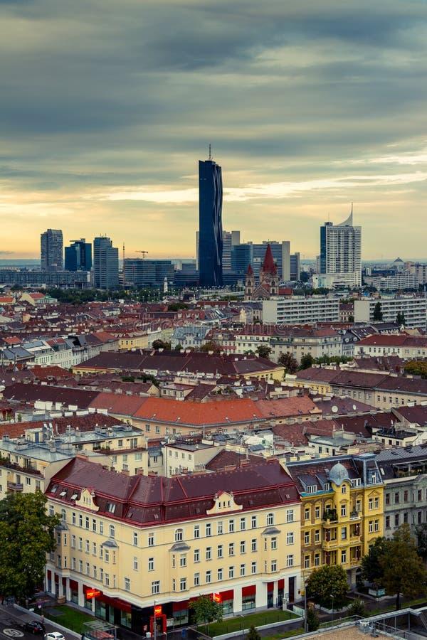 Skyscraper at Vienna (Donau-City) stock photography