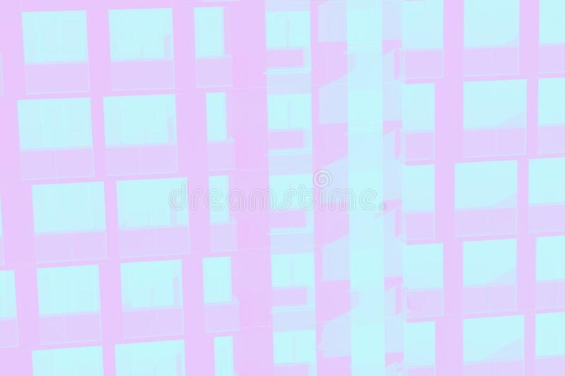 Skyscraper wall, abstract background from windows pattern. Light pink toned. Skyscraper wall, abstract background, windows pattern. Light pink toned royalty free stock photos