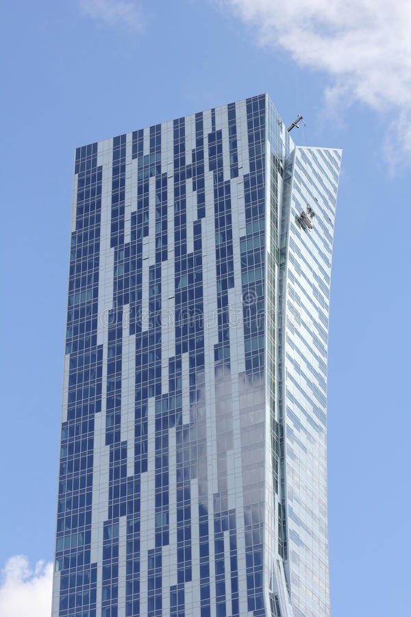 Skyscraper in warsaw in poland stock image image of Modern residential towers