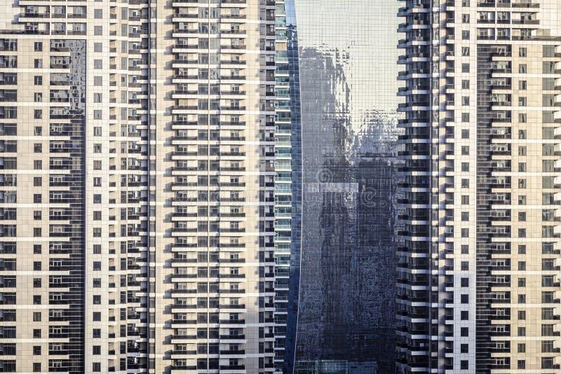 Skyscraper windows royalty free stock photography