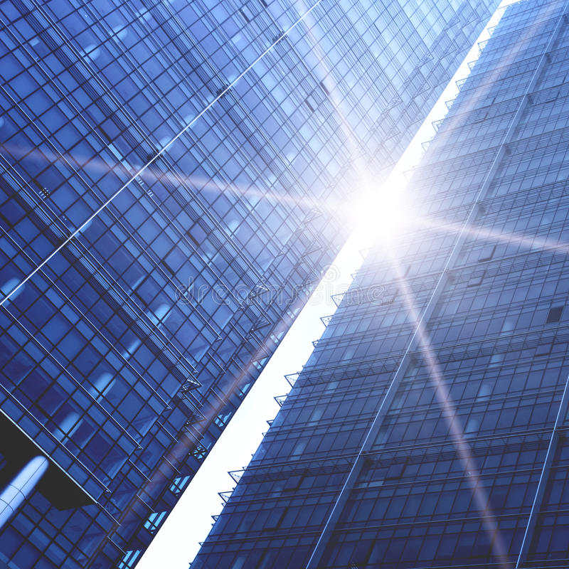 Download Skyscrapers stock image. Image of beam, design, glare - 18199491