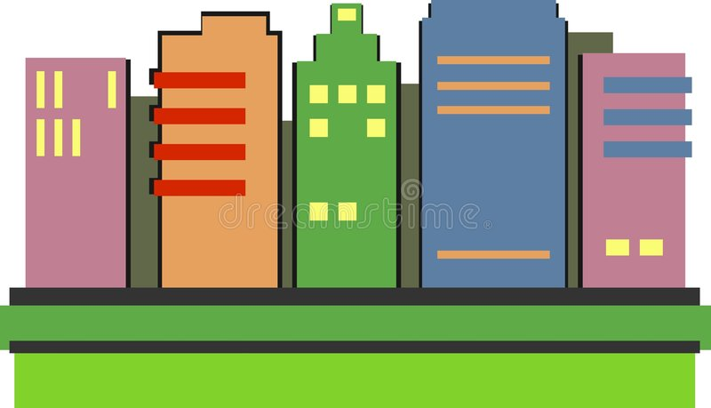 Download Skyscrapers stock vector. Image of modern, industry, office - 45754