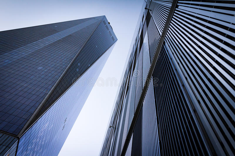 Skyscrapers Against Clear Sky Background in New York City stock photos