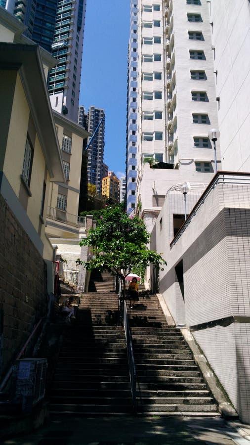 Skyscrapers art. Asia travel, Hong Kong city, urban life stock images