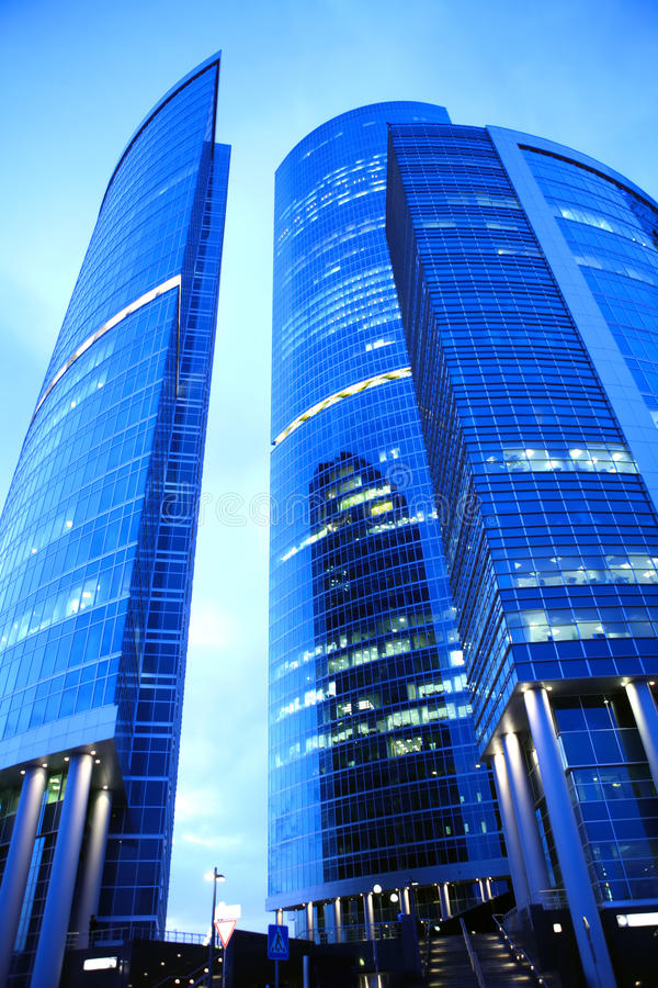 Free Skyscrapers At Evening Stock Photos - 10988523