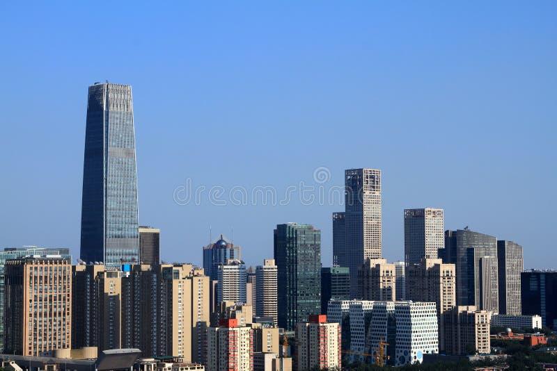 Download Skyscrapers of Beijing stock photo. Image of beautiful - 27049760