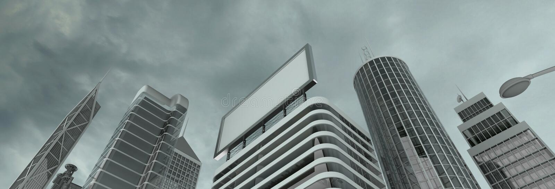 Download Skyscrapers & billboard stock illustration. Illustration of financial - 6535412
