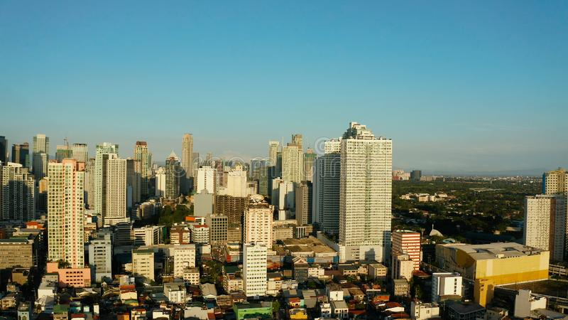 Manila city, the capital of the Philippines. stock images
