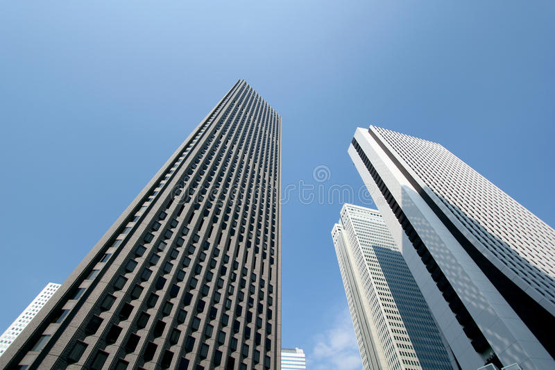Skyscrapers in the center of Japan royalty free stock photos