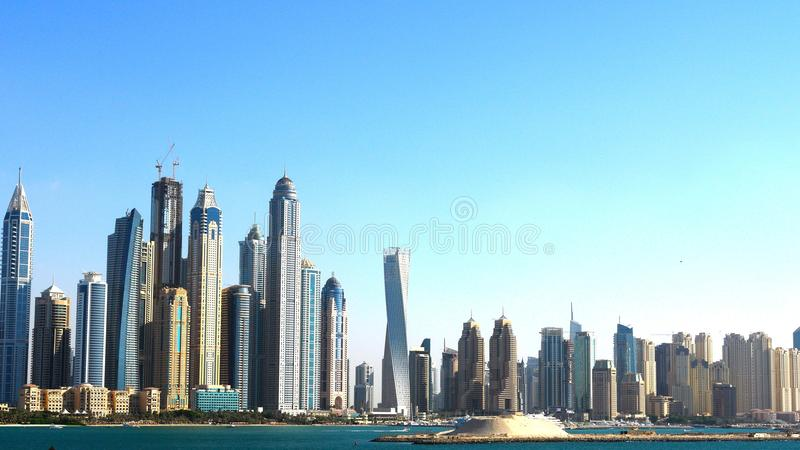 Skyscrapers in City Against Clear Sky royalty free stock images