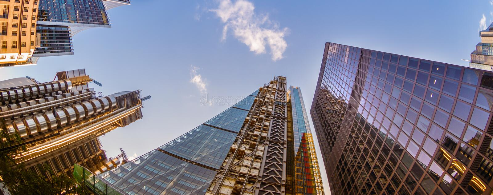 Skyscrapers in the City of London. World's leading financial centre stock images