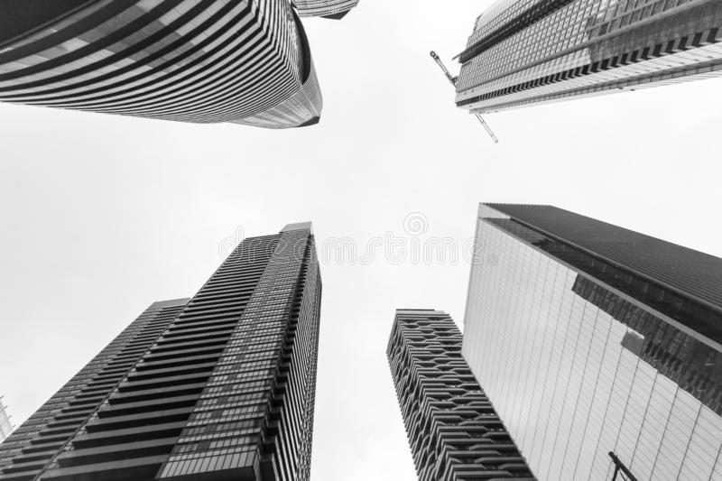 Skyscrapers in the city, Toronto royalty free stock photography