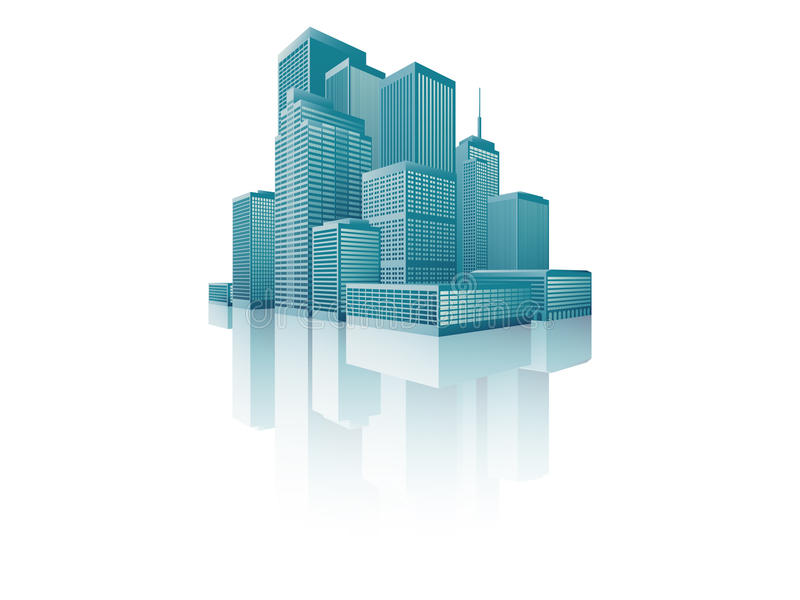 Download Skyscrapers Cityscape stock vector. Image of built, graphic - 27638877