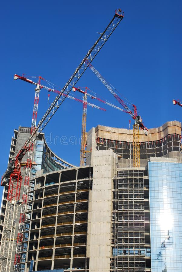 Skyscrapers construction royalty free stock images