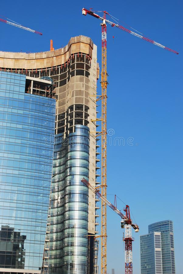 Skyscrapers construction stock photography