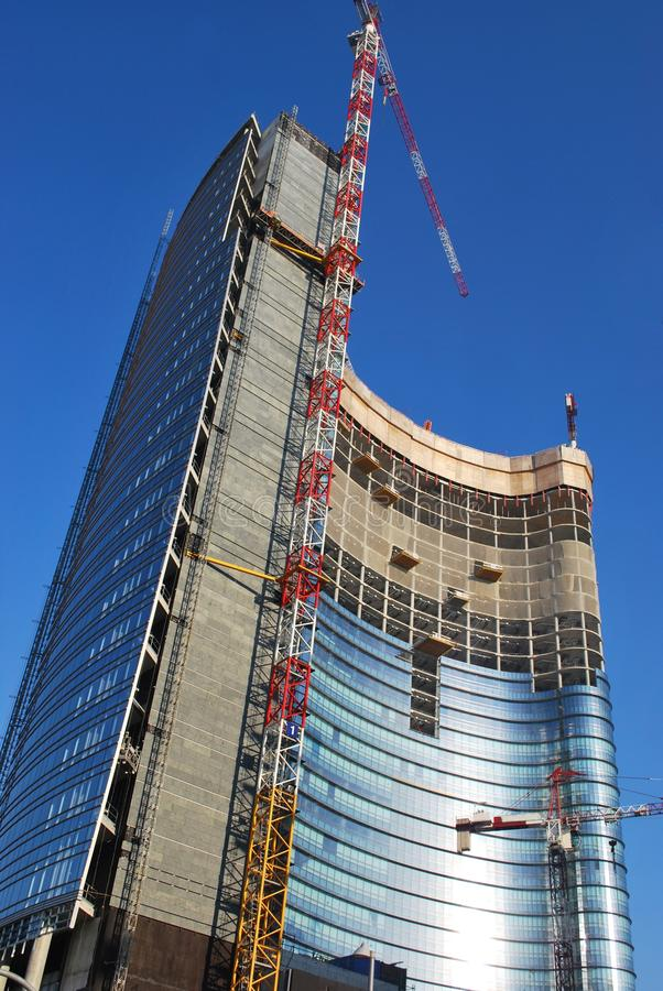 Skyscrapers construction royalty free stock photography