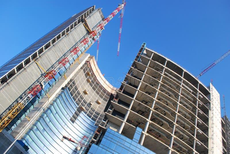 Skyscrapers construction stock photos