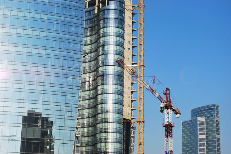 Skyscrapers construction stock image