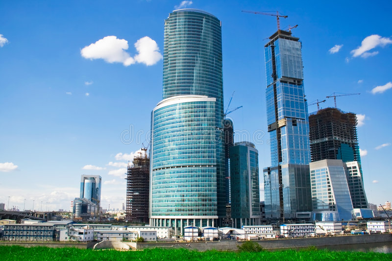 Download Skyscrapers construction stock image. Image of construction - 7209535