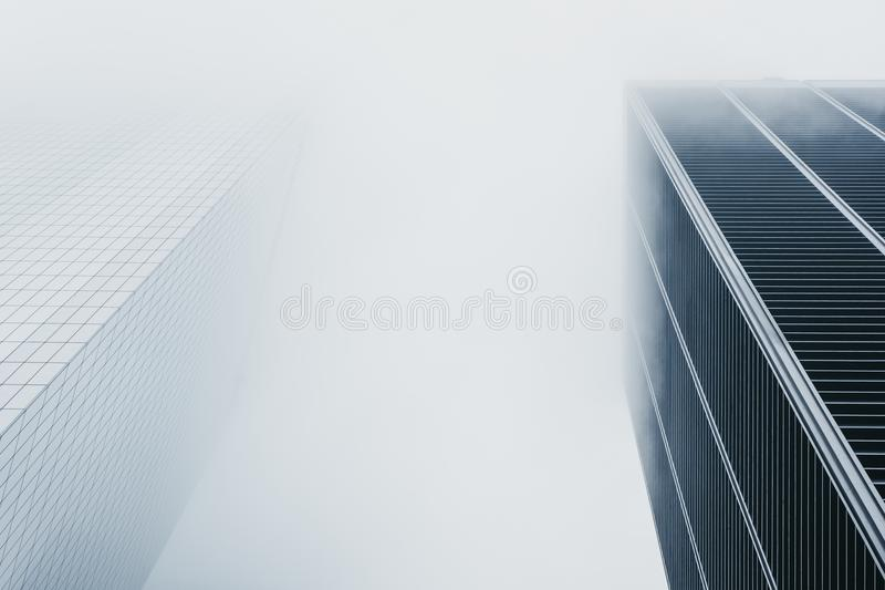 Skyscrapers disappear in the fog in New York, USA. New York is one of the most visited cities in the world royalty free stock photo