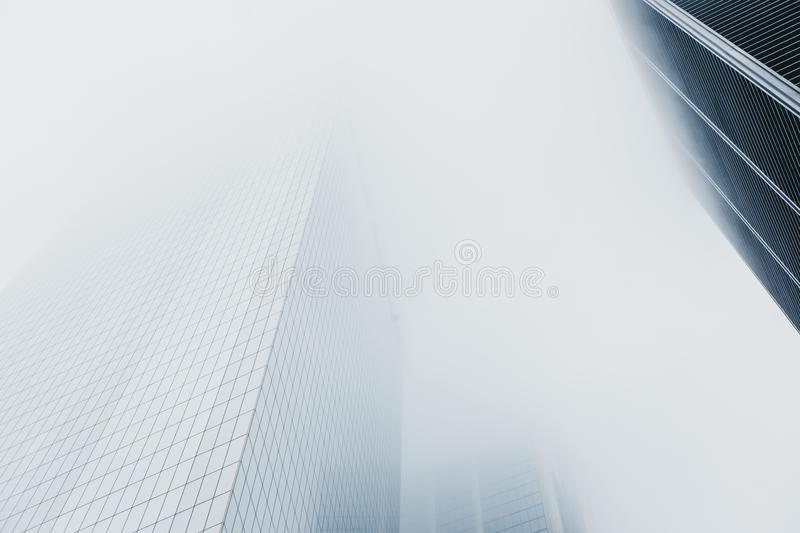 Skyscrapers disappear in the fog in New York, USA. New York is one of the most visited cities in the world stock images