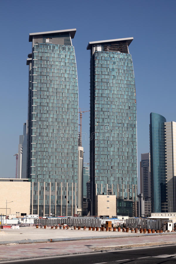 Download Skyscrapers in Doha, Qatar stock image. Image of towers - 23001729