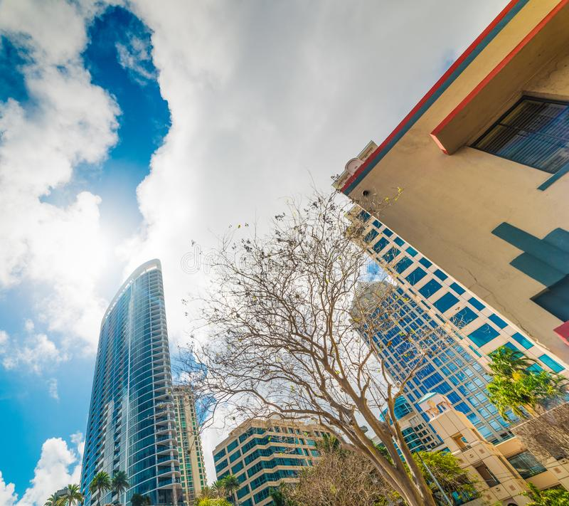 Skyscrapers in downtown Fort Lauderdale. In Southern Florida, USA stock photo