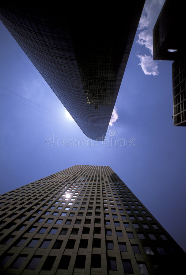 Skyscrapers in downtown Houston stock photo