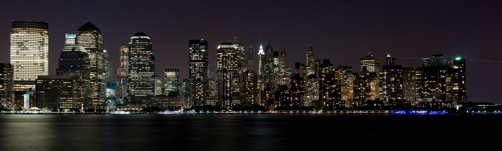 Download Skyscrapers Of Downtown NY City Night Stock Photo - Image: 15980600