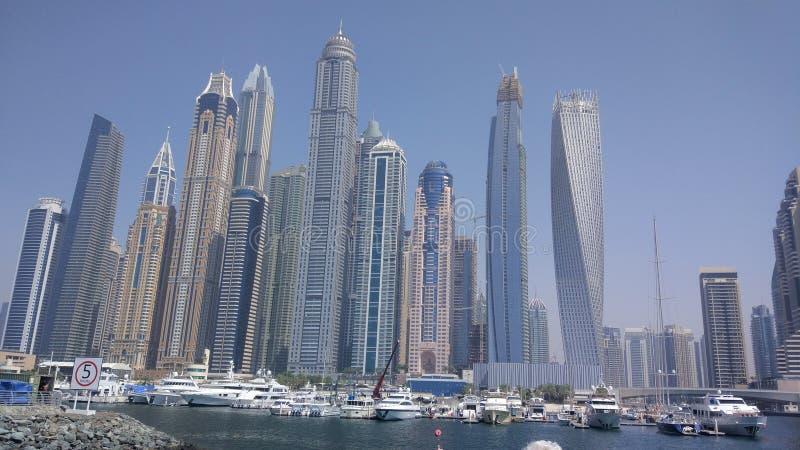 Skyscrapers in Dubai stock images