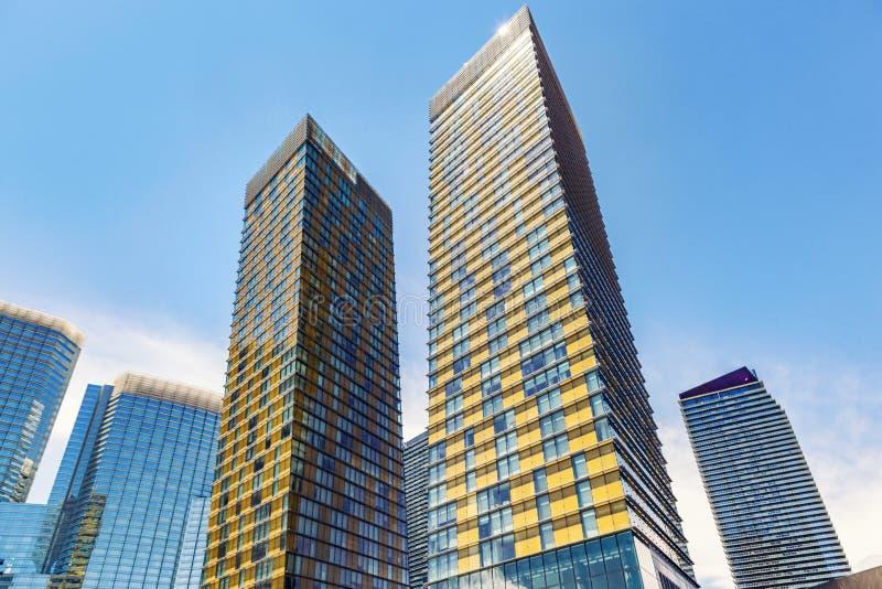 Skyscrapers em Las Vegas, Nevada, EUA foto de stock royalty free