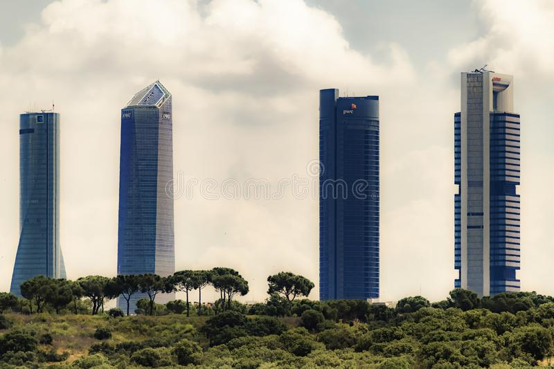 SKYSCRAPERS IN A GREAT CITY royalty free stock images