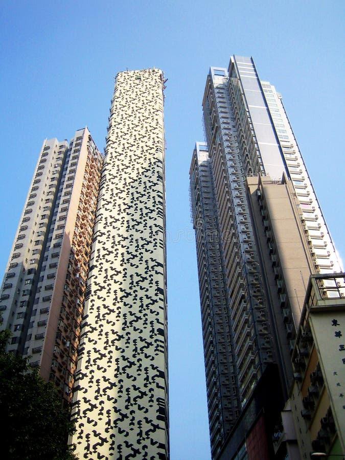 Skyscrapers in Hong Kong royalty free stock photos