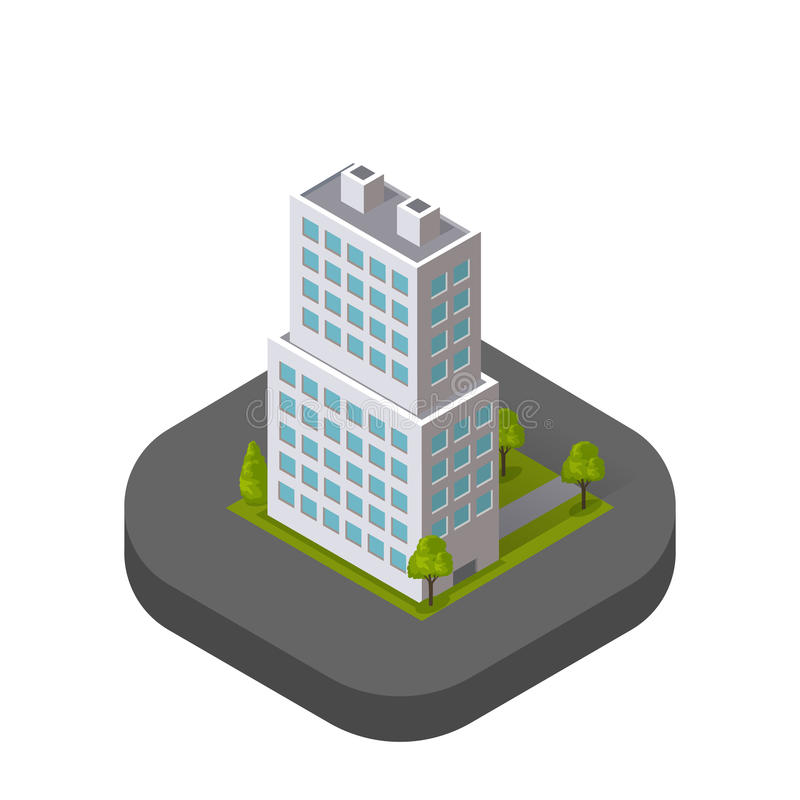Skyscrapers House Building Icon Skyscraper. Skyscraper logo building icon. Building and skyscraper, tower and office city architecture, house business building stock illustration
