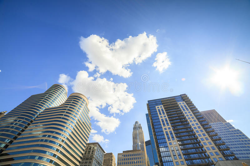 Skyscrapers of Minneapolis, Minnesota. royalty free stock photo