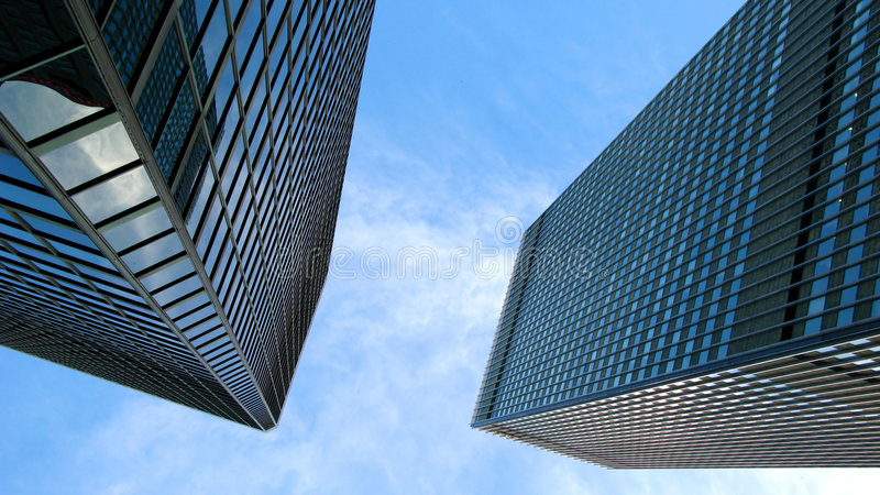 Skyscrapers in Montreal royalty free stock photography
