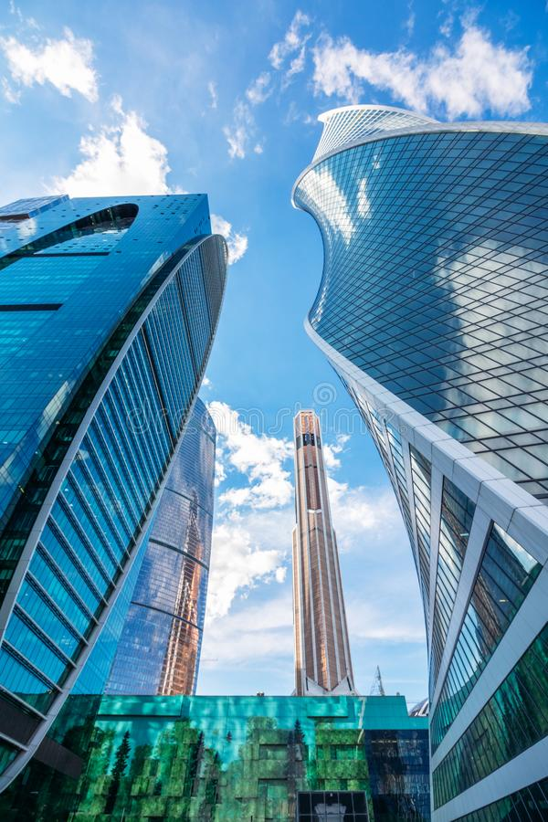 Skyscrapers in Moscow on a summer day. Russia, Moscow stock photos