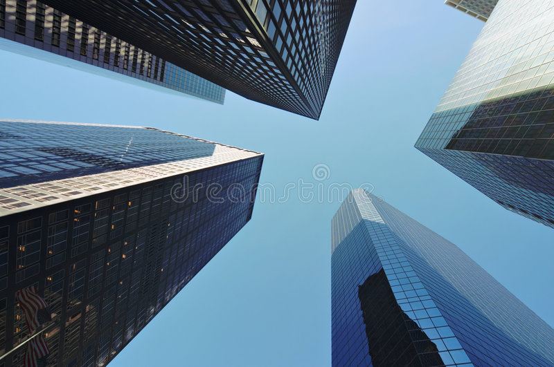 Skyscrapers in New York royalty free stock images