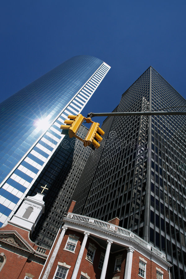 Skyscrapers in New York royalty free stock image