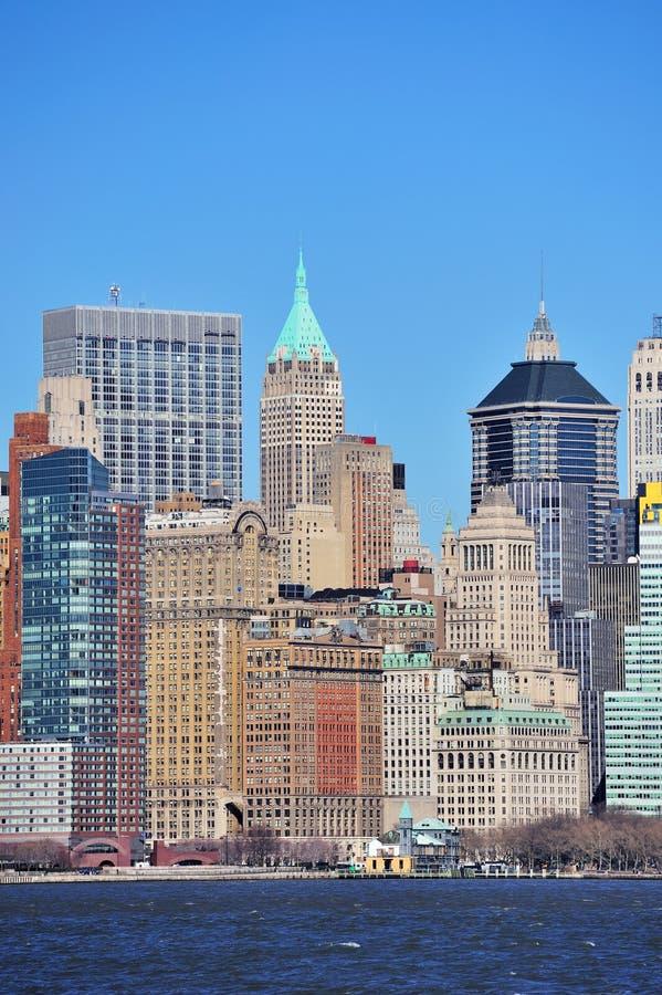 Skyscrapers Of New York City Manhattan Stock Photo